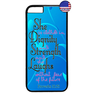 Without Fear Bible Verse Rubber Case Cover For Iphone