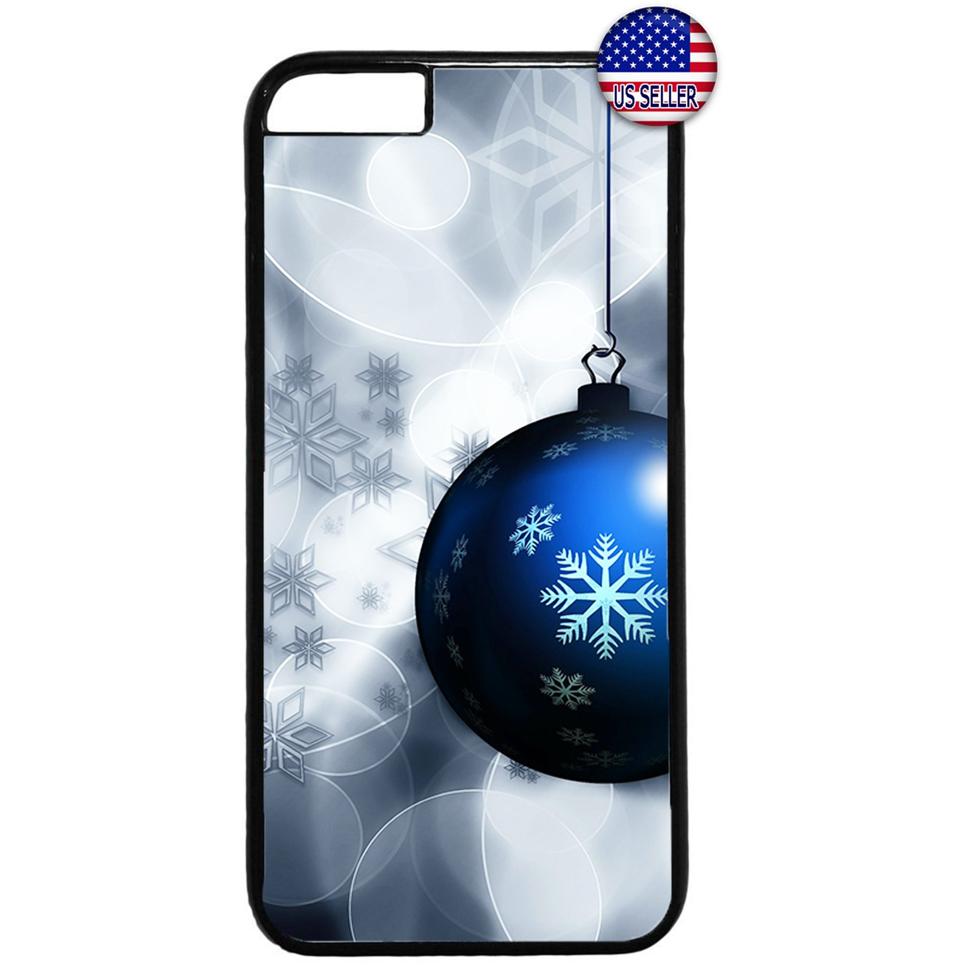 Merry Christmas Ornament Snow Rubber Case Cover For Iphone