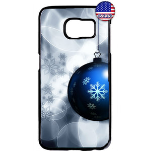 Merry Christmas Ornament Snow Rubber Case Cover For Samsung Galaxy