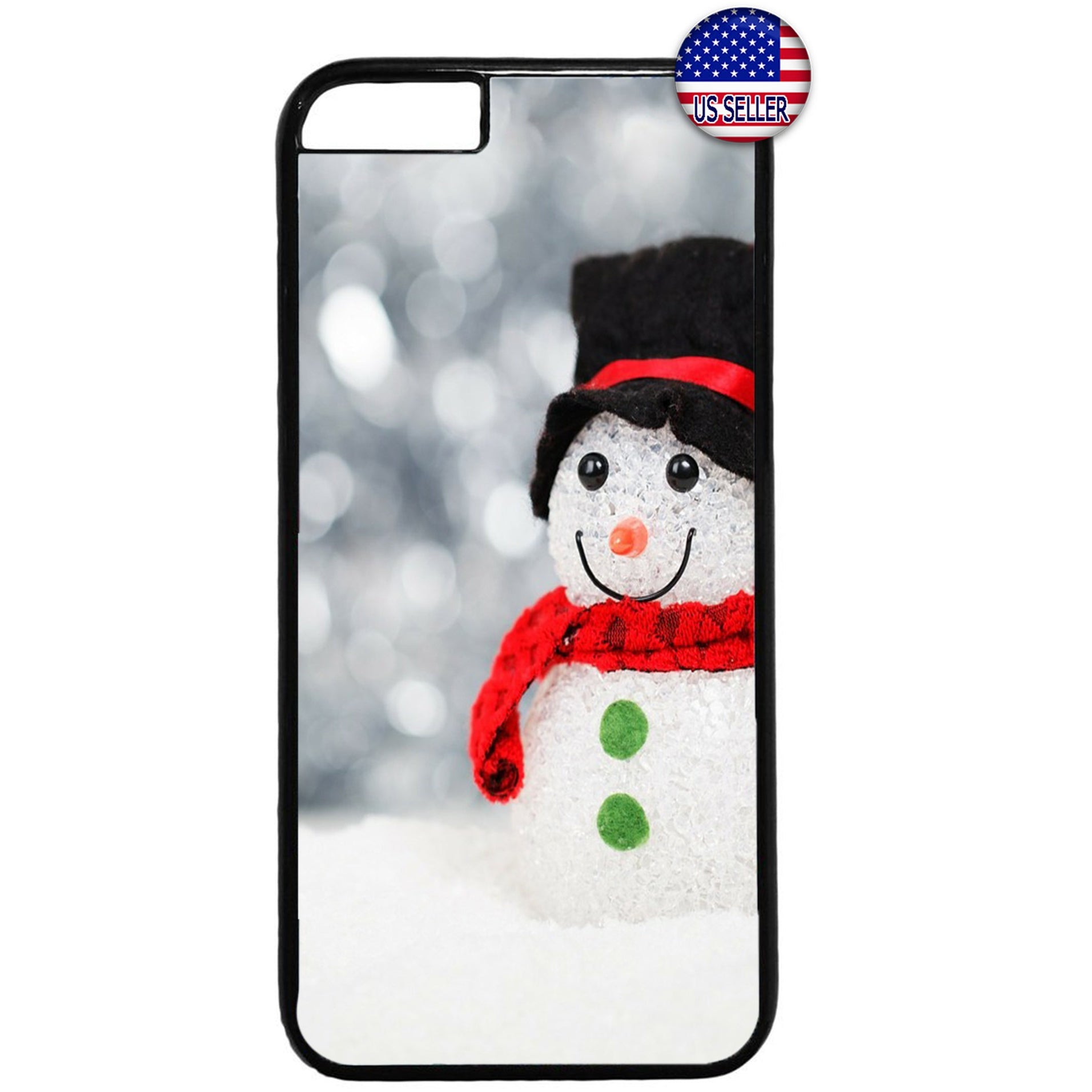 Merry Christmas Snowman Gift Rubber Case Cover For Iphone