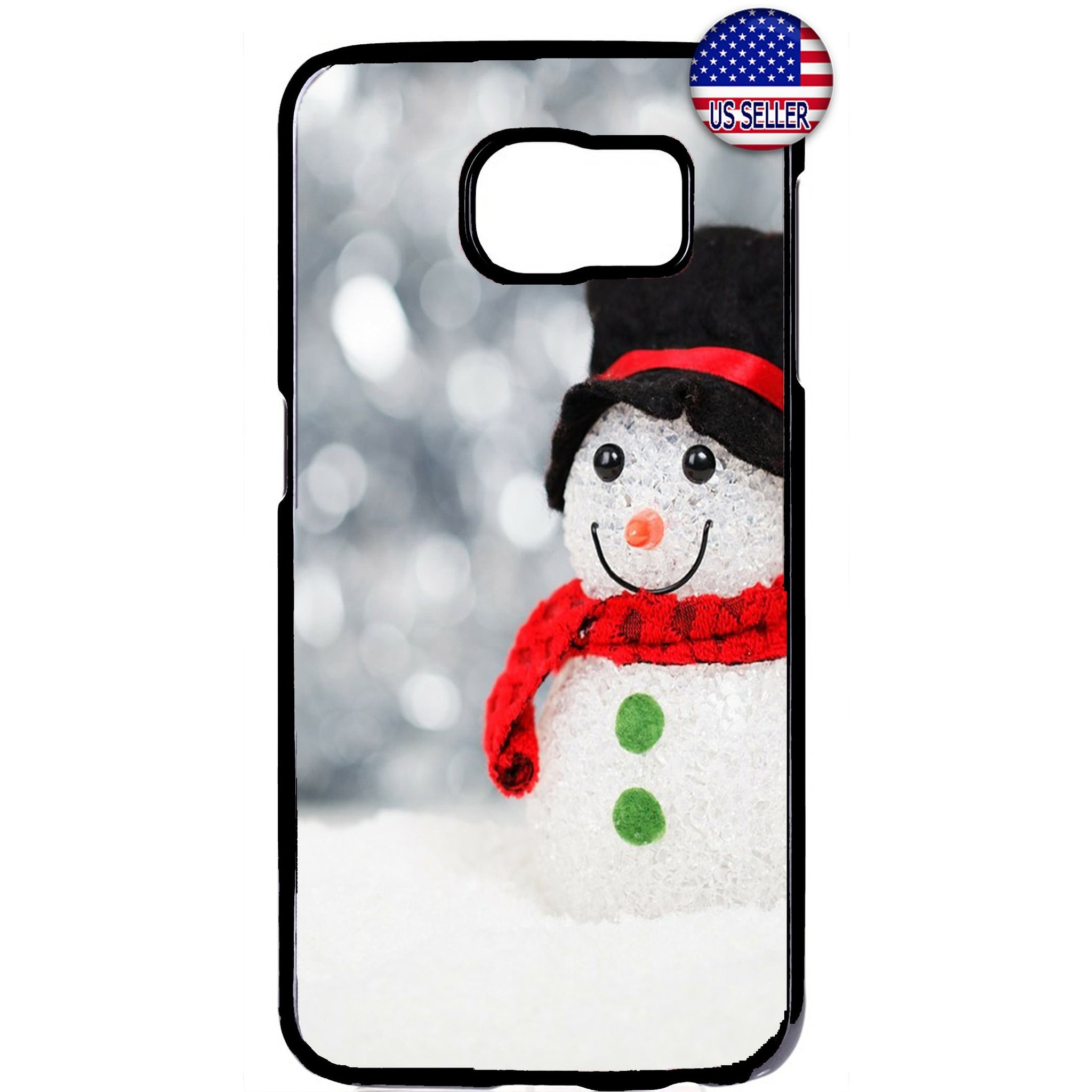Merry Christmas Snowman Gift Rubber Case Cover For Samsung Galaxy
