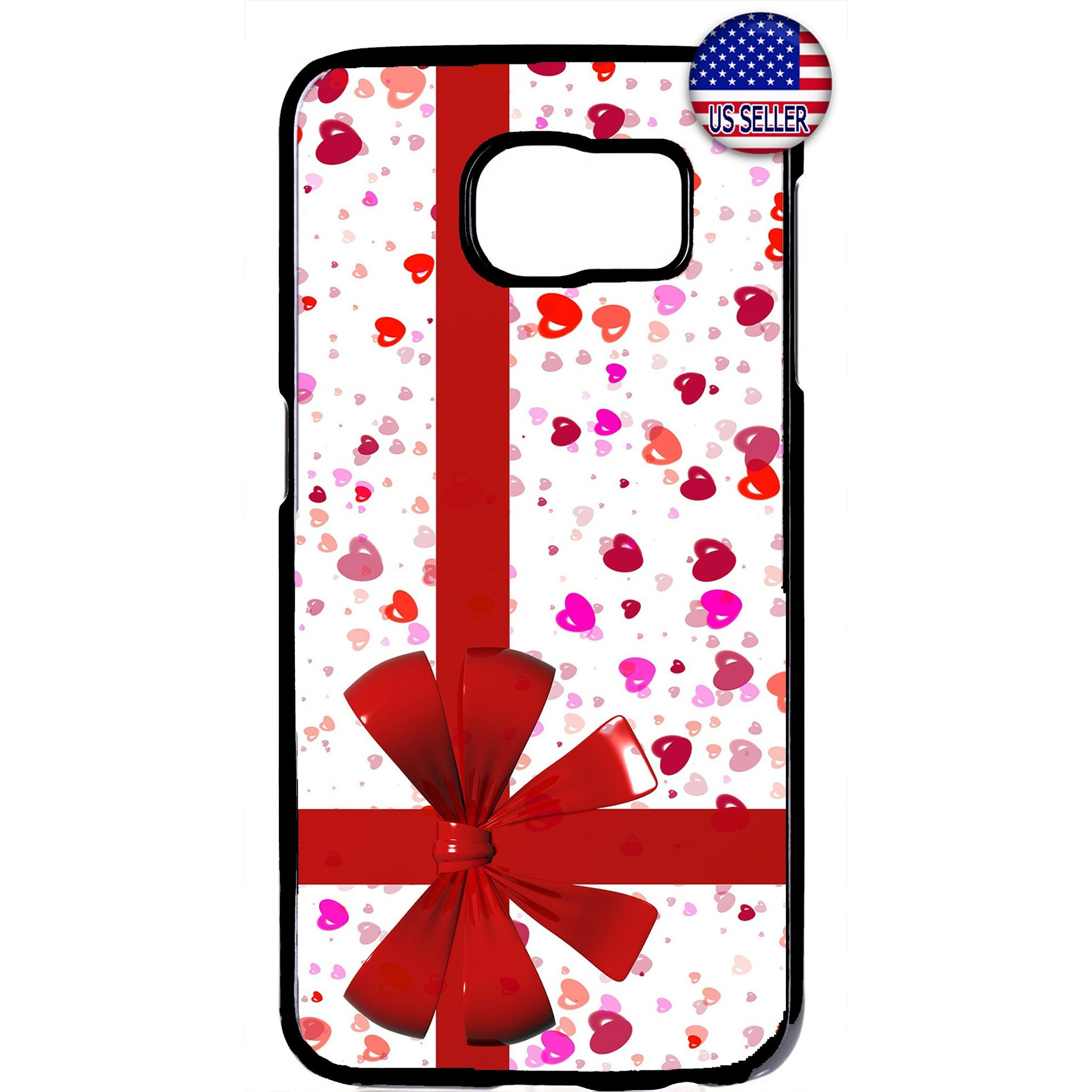 Merry Christmas Gift Red Bow Rubber Case Cover For Samsung Galaxy