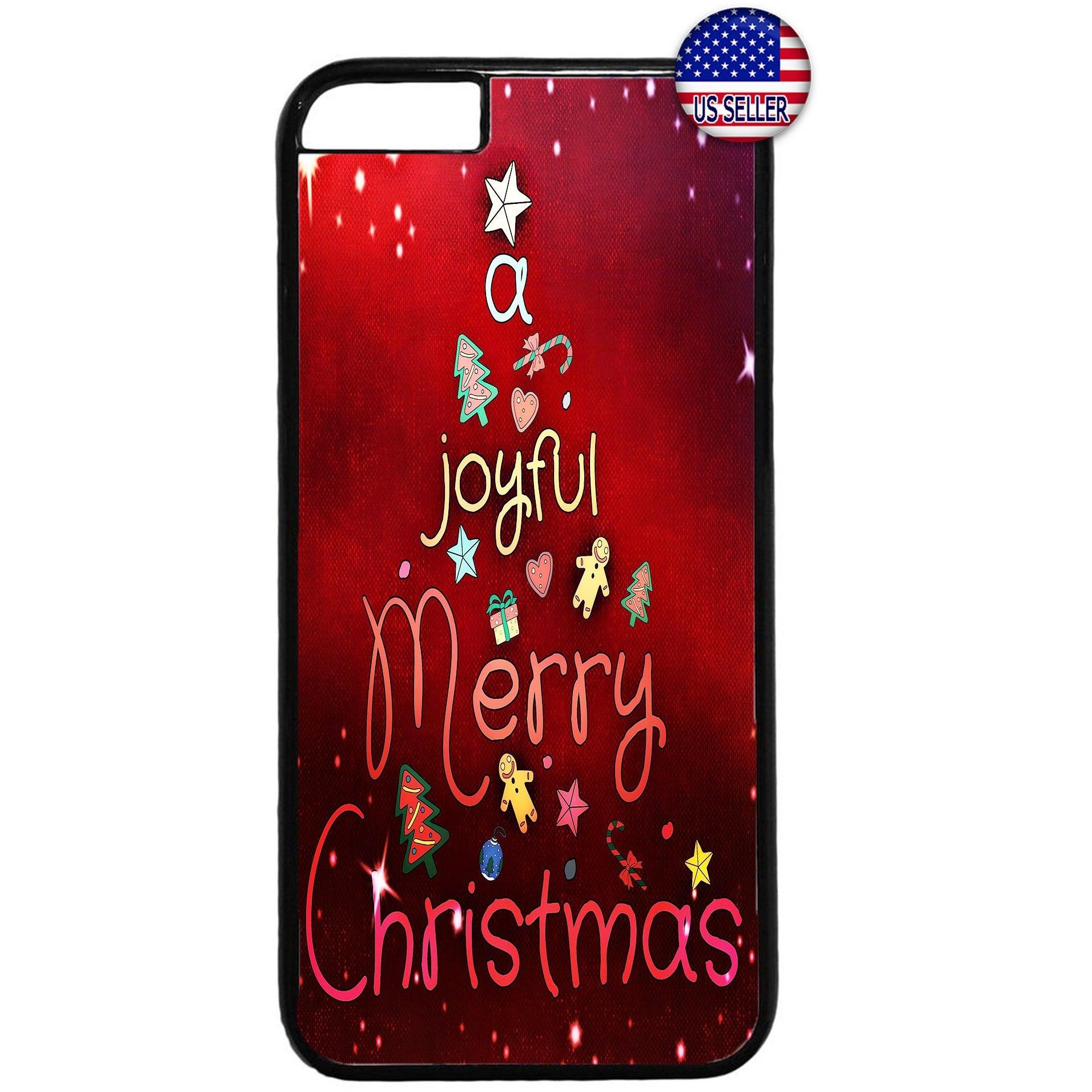 A Joyful Merry Christmas Rubber Case Cover For Iphone