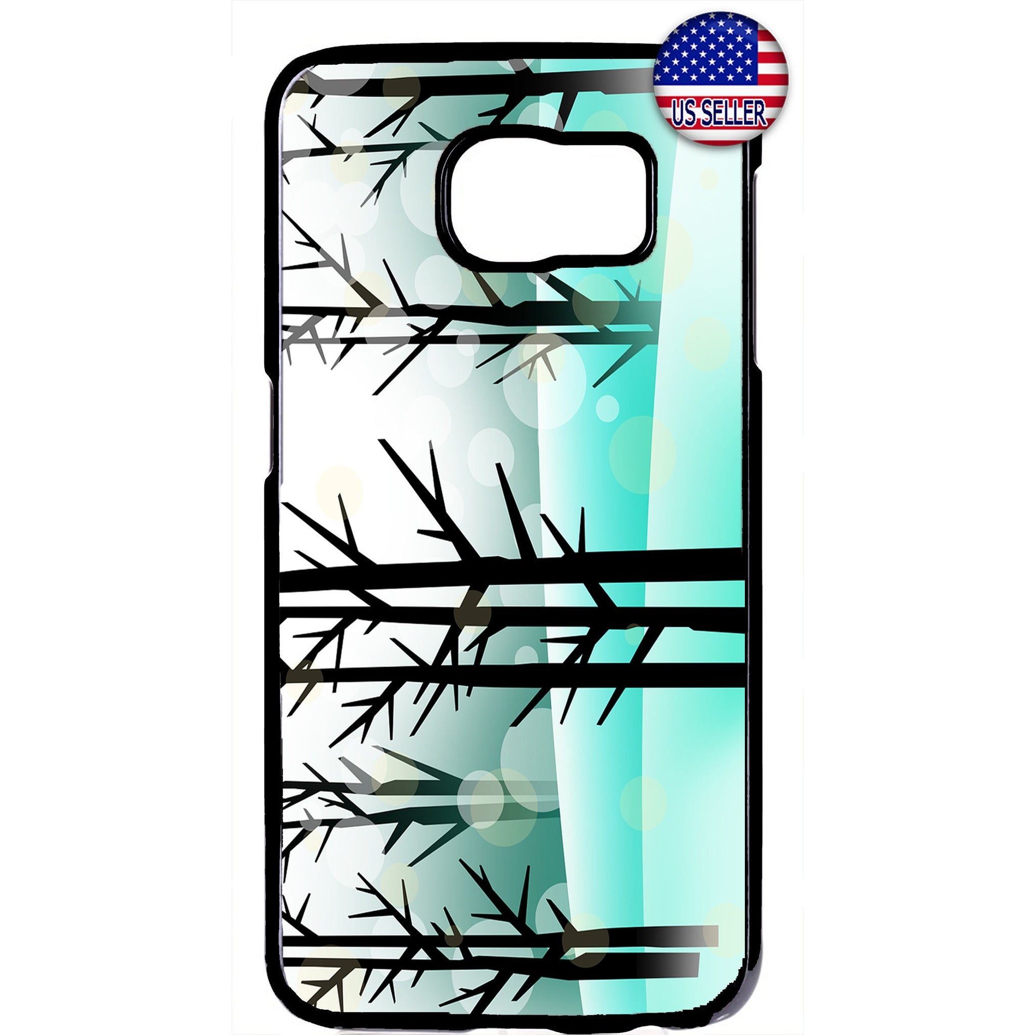 Winter Merry Christmas Trees Rubber Case Cover For Samsung Galaxy