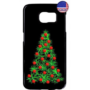 Merry Christmas Tree Ornaments Rubber Case Cover For Samsung Galaxy