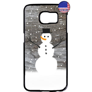 Happy Snowman Merry Christmas Rubber Case Cover For Samsung Galaxy Note