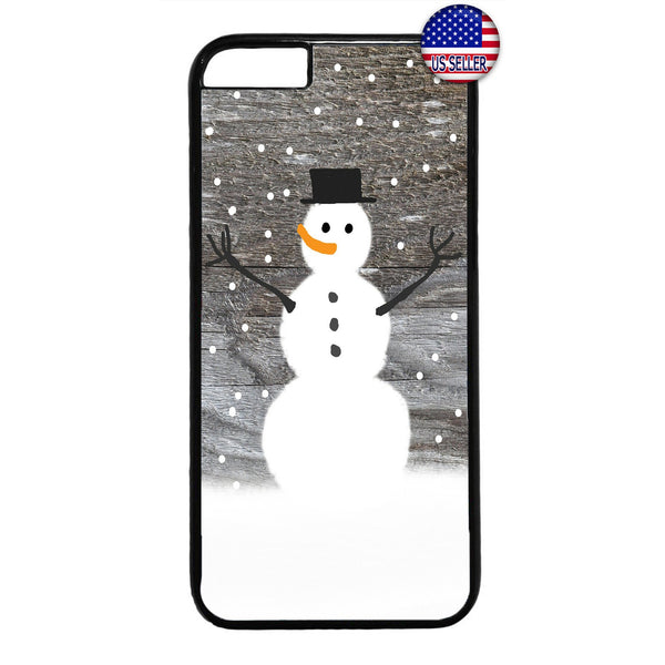 Happy Snowman Merry Christmas Rubber Case Cover For Iphone