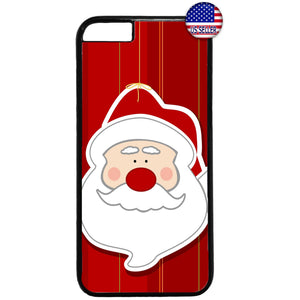 Santa Clause Merry Christmas Rubber Case Cover For Iphone