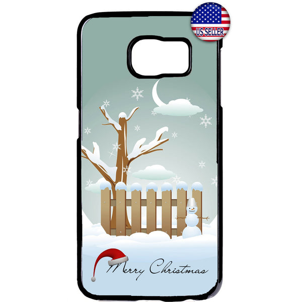 White Merry Christmas Winter Rubber Case Cover For Samsung Galaxy