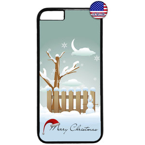 White Merry Christmas Winter Rubber Case Cover For Iphone