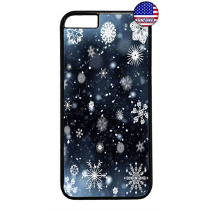 Merry Christmas Snow Flakes Rubber Case Cover For Iphone