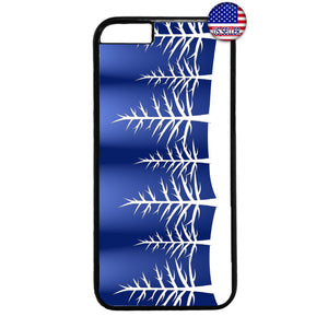Merry Christmas Pine Trees Rubber Case Cover For Iphone