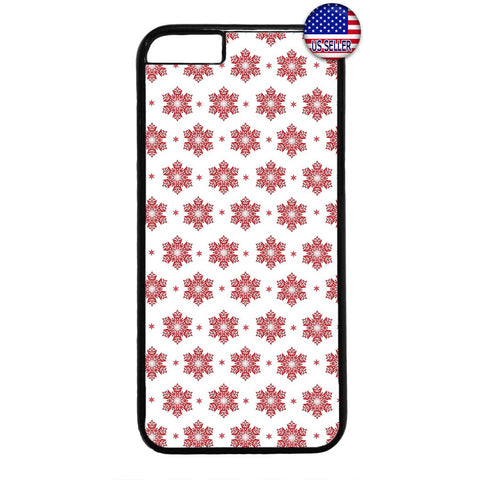 Merry Christmas Red Snow Flakes Rubber Case Cover For Iphone