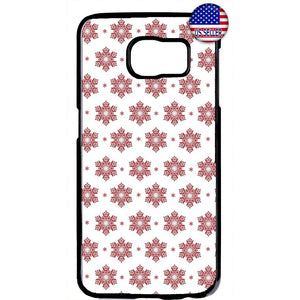 Merry Christmas Red Snow Flakes Rubber Case Cover For Samsung Galaxy