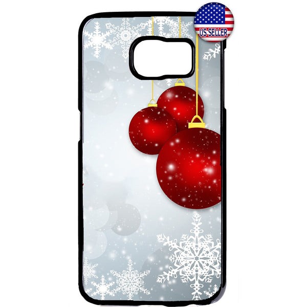 Red Merry Merry Christmas Ornaments Rubber Case Cover For Samsung Galaxy