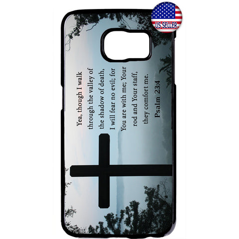 Valley of Death Cross Christian Bible Rubber Case Cover For Samsung Galaxy