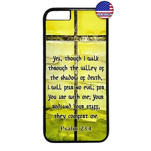 Christian Bible Valley of Death Cross Rubber Case Cover For Iphone