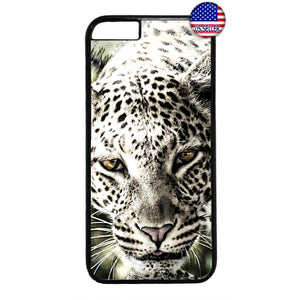 Animal Leopard Wild Cat Rubber Case Cover For Iphone