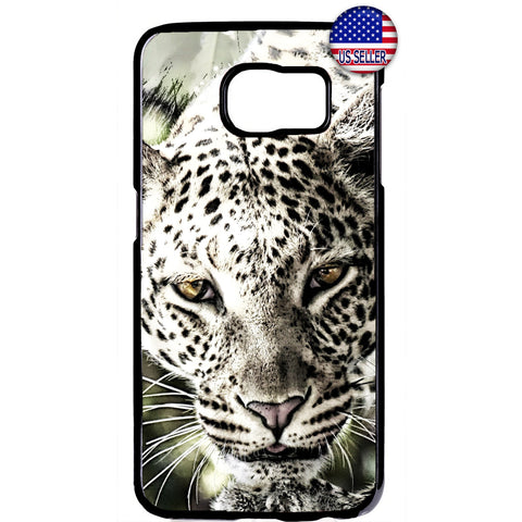 Animal Leopard Wild Cat Rubber Case Cover For Samsung Galaxy