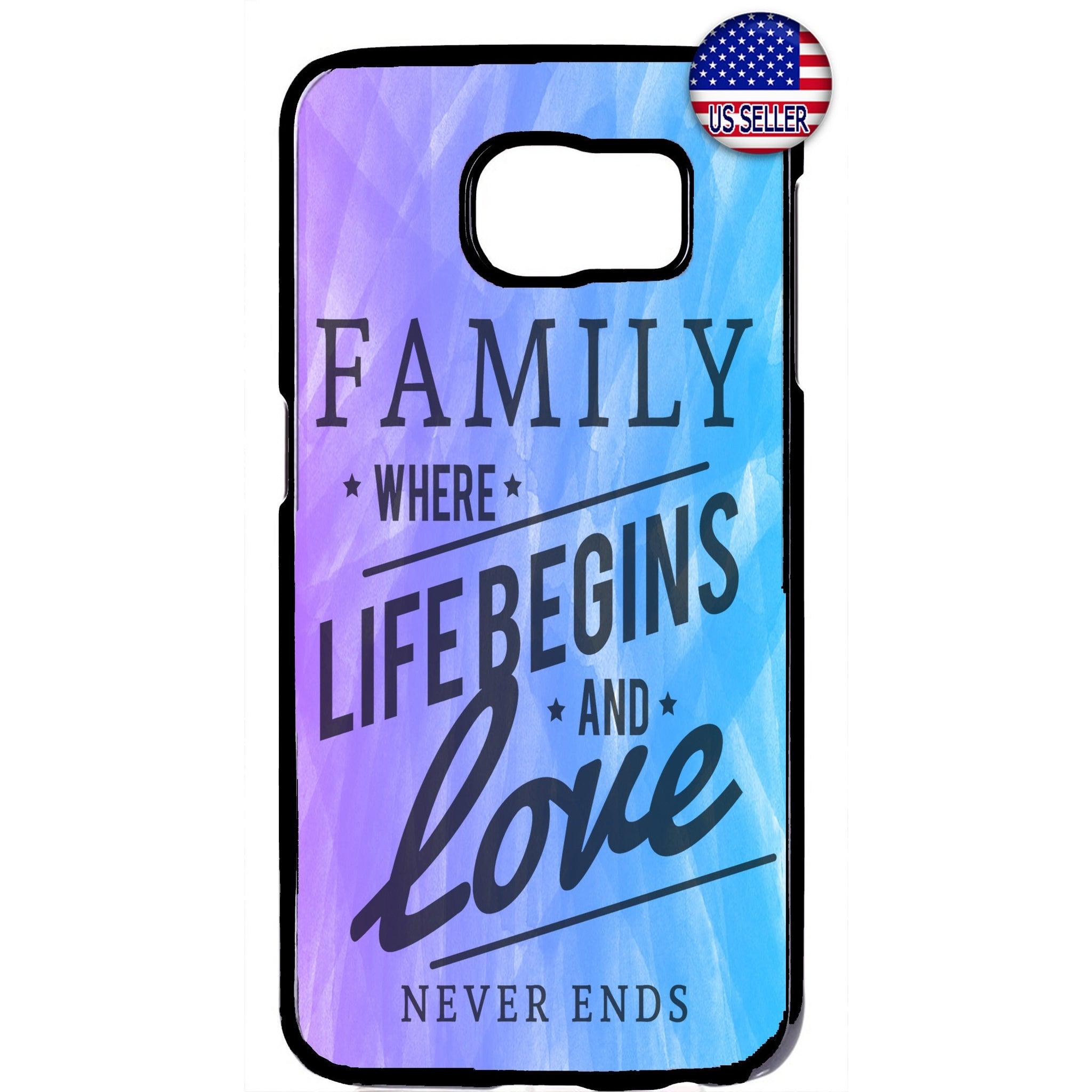 Live Begins Family & Love Rubber Case Cover For Samsung Galaxy