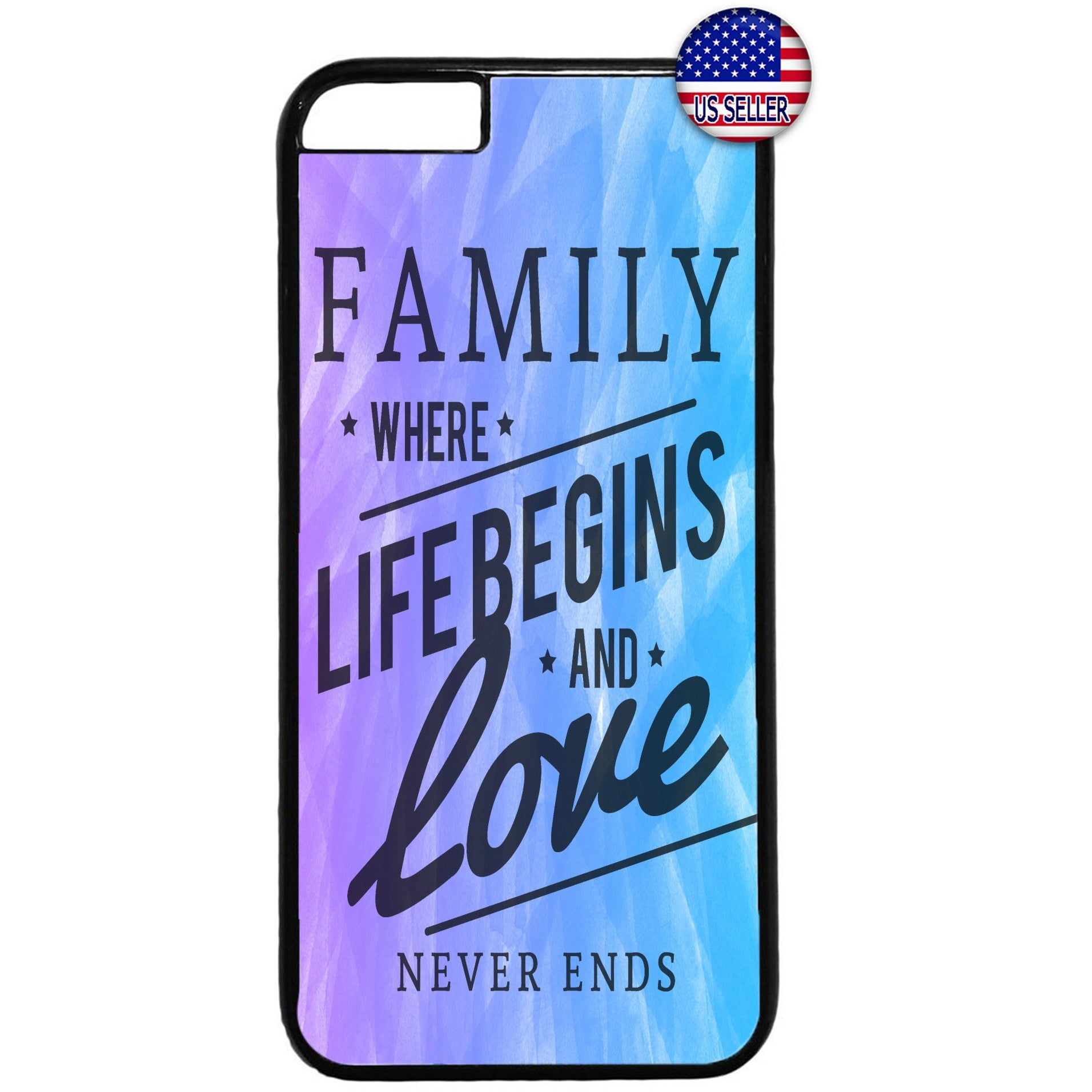 Live Begins Family & Love Rubber Case Cover For Iphone