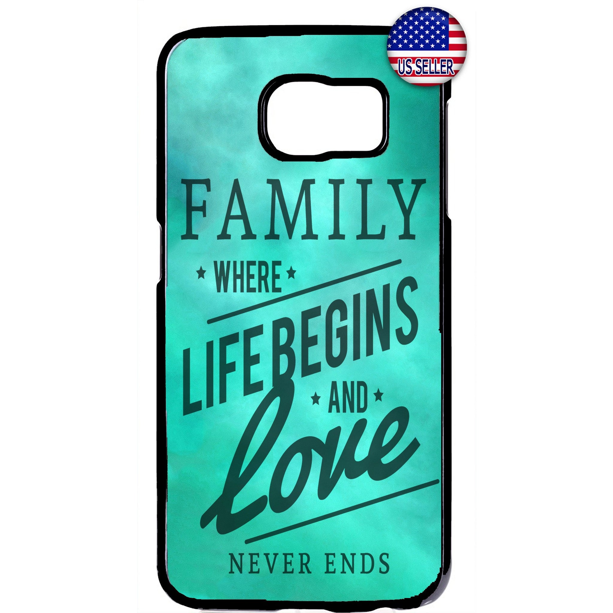 Family, Life & Love Quote Rubber Case Cover For Samsung Galaxy
