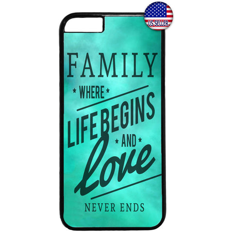 Family, Life & Love Quote Rubber Case Cover For Iphone