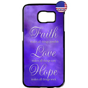 Purple Faith Love & Hope Rubber Case Cover For Samsung Galaxy Note