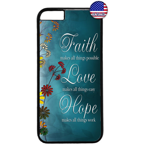 Floral Faith Love & Hope Rubber Case Cover For Iphone