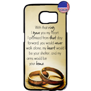 Wedding Rings Marry Bride Rubber Case Cover For Samsung Galaxy Note