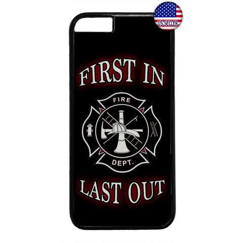 Firefighter First & Last Fire Dept. Rubber Case Cover For Iphone
