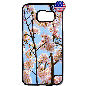 Floral Cherry Blossom Rubber Case Cover For Samsung Galaxy