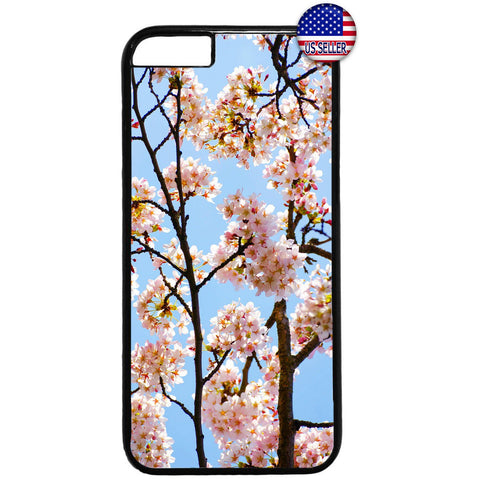 Floral Cherry Blossom Rubber Case Cover For Iphone