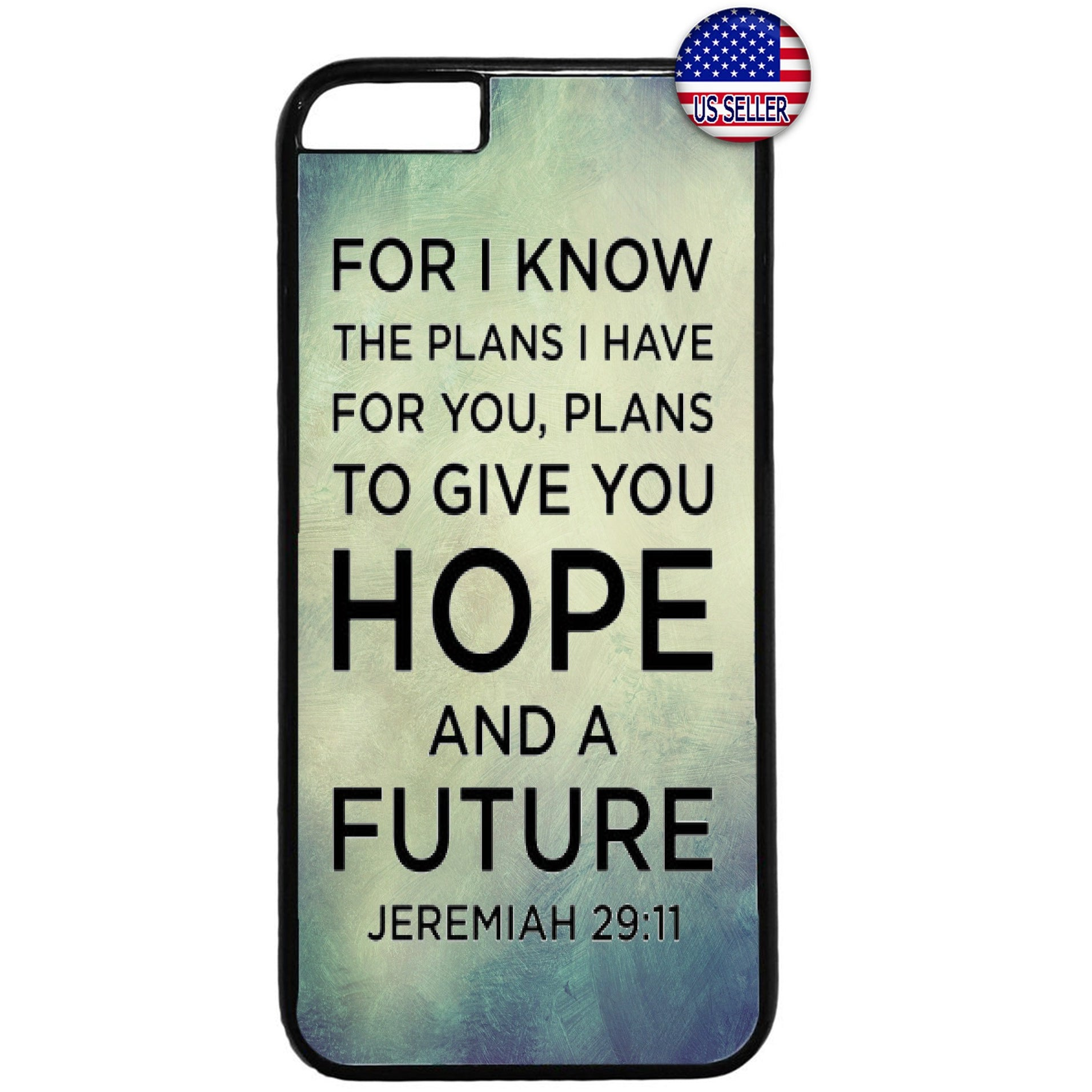 Hope Future Christian Bible Verse Rubber Case Cover For Iphone