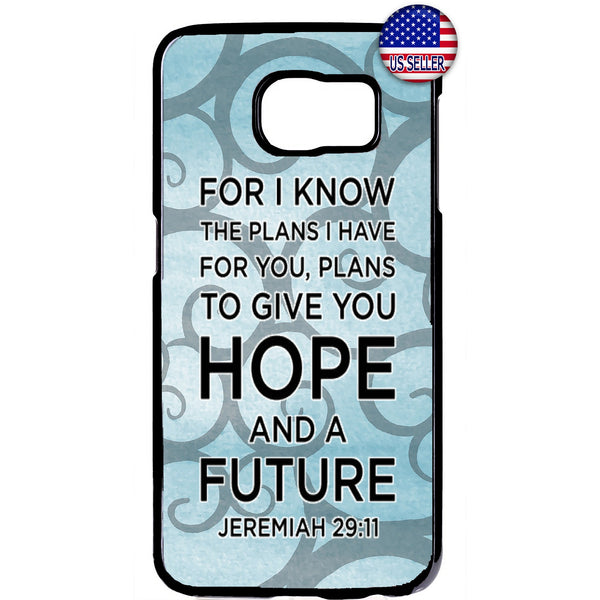 Bible Verse Hope Future Christian Rubber Case Cover For Samsung Galaxy