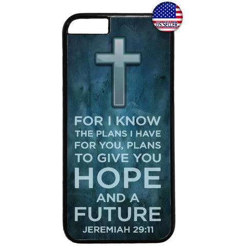 Cross Christian Bible Hope Future Rubber Case Cover For Iphone