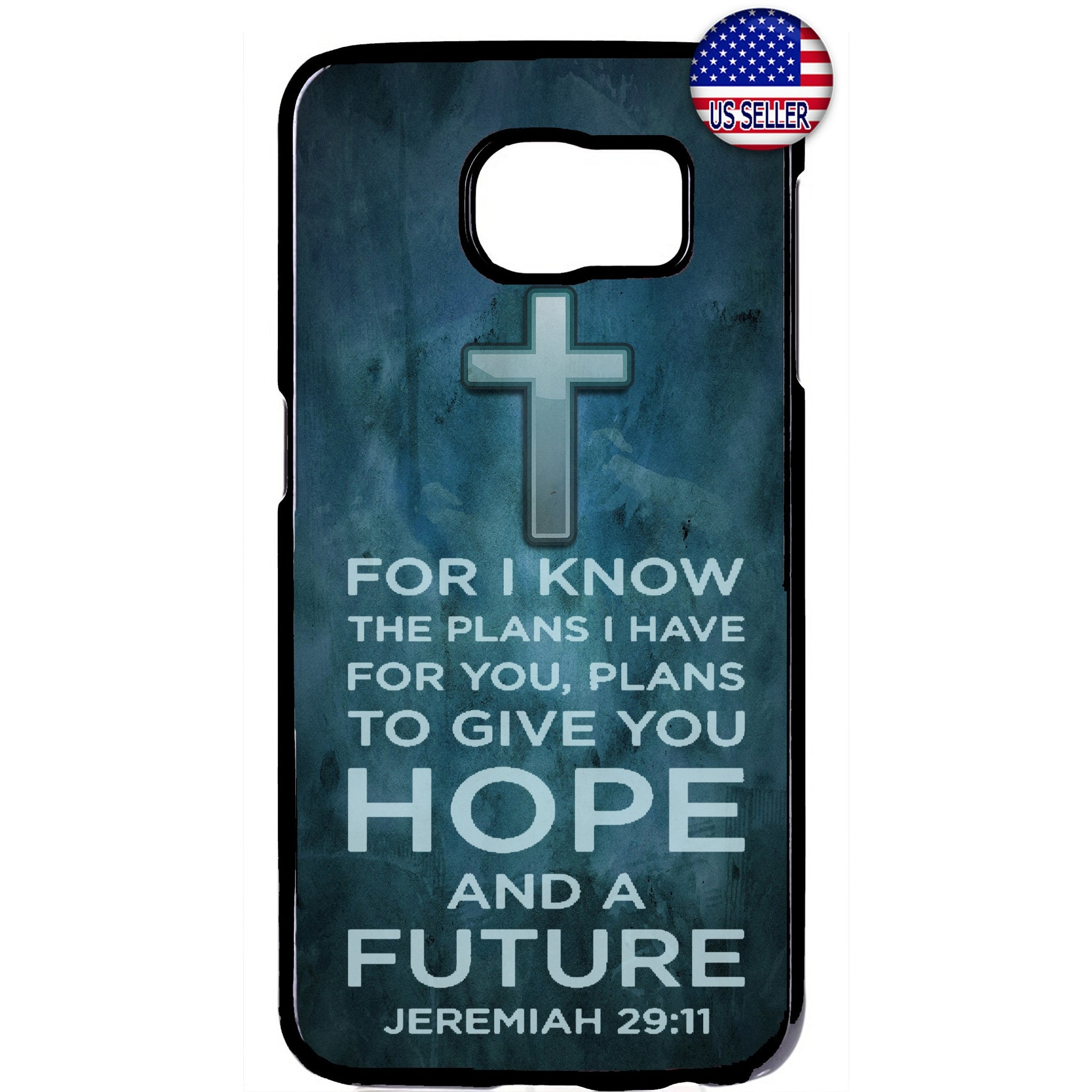 Cross Christian Bible Hope Future Rubber Case Cover For Samsung Galaxy