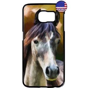 Stallion Wild Horse Art Rubber Case Cover For Samsung Galaxy