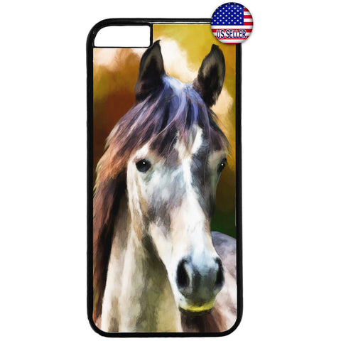 Stallion Wild Horse Art Rubber Case Cover For Iphone