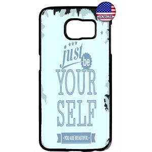 Just Be Yourself Life Quote Rubber Case Cover For Samsung Galaxy Note