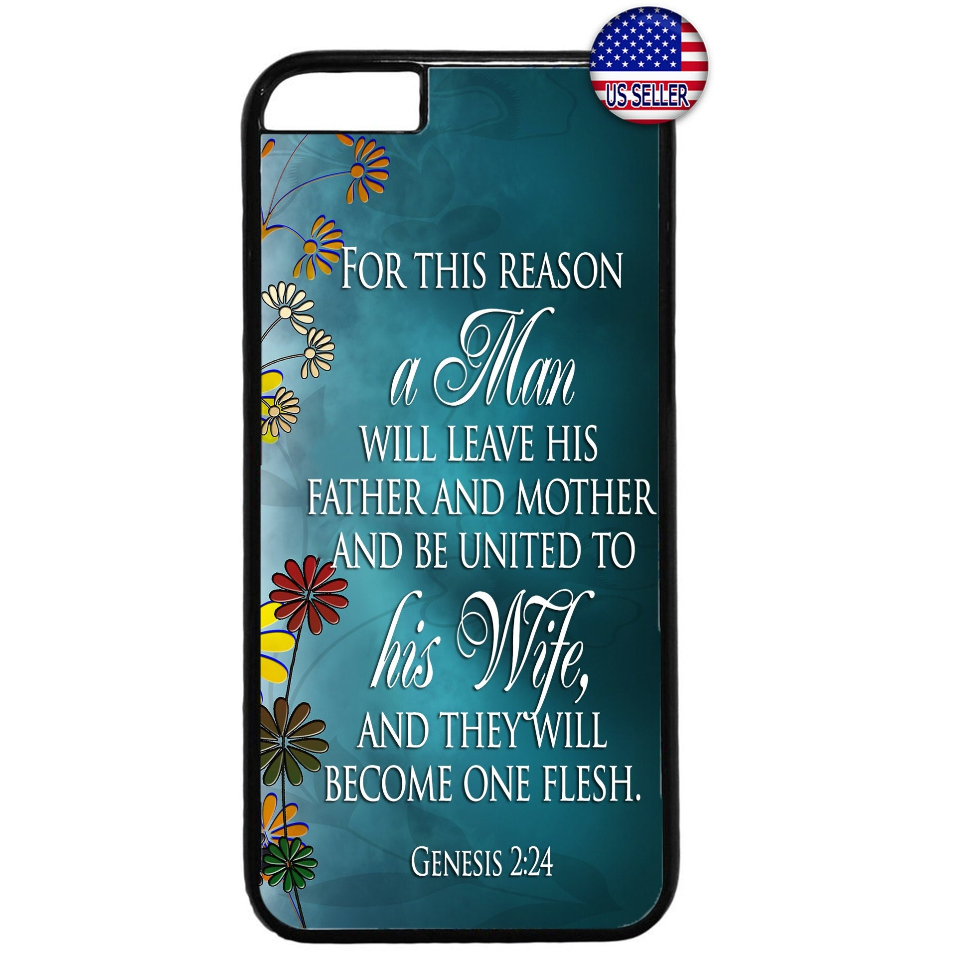 Husband & Wife One Flesh Rubber Case Cover For Iphone