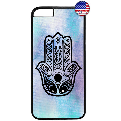 Sky Hamsa Hand Evil Eye Rubber Case Cover For Iphone