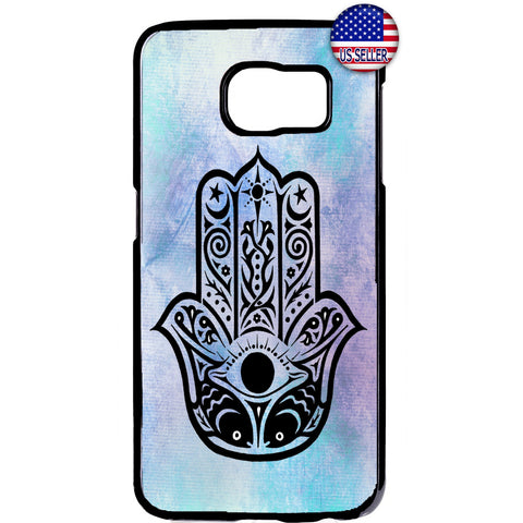 Sky Hamsa Hand Evil Eye Rubber Case Cover For Samsung Galaxy