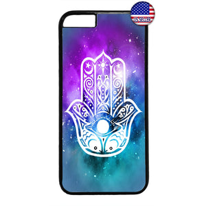 Galaxy Hamsa Evil Eye Rubber Case Cover For Iphone