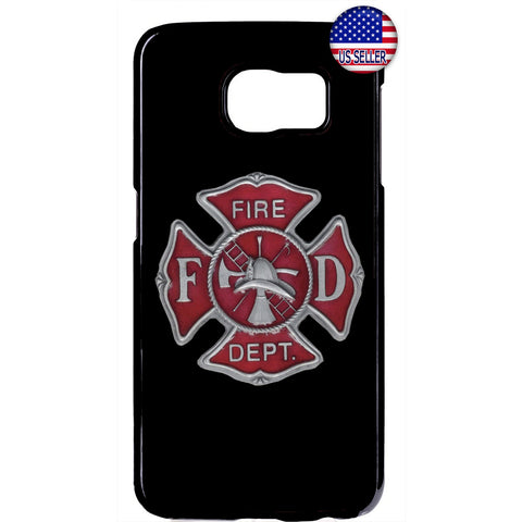 Firefighter Fire Dept. Logo Rubber Case Cover For Samsung Galaxy