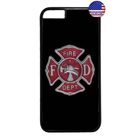 Firefighter Fire Dept. Logo Rubber Case Cover For Iphone