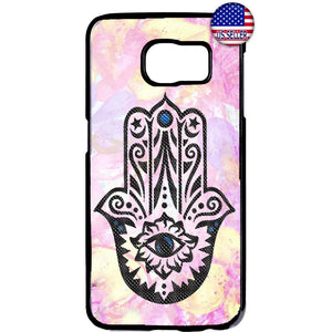 Pink Evil Eye Hamsa Hand Rubber Case Cover For Samsung Galaxy
