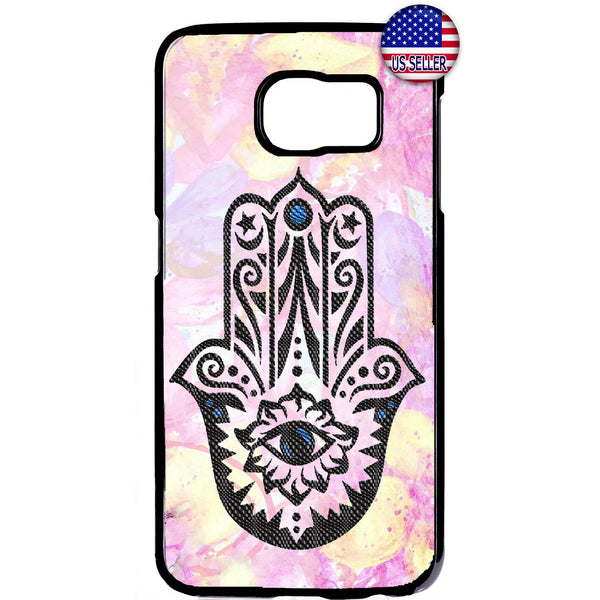 Pink Evil Eye Hamsa Hand Rubber Case Cover For Samsung Galaxy Note