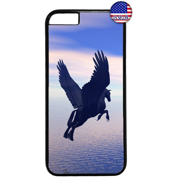 Flying Pegasus Horse Rubber Case Cover For Iphone