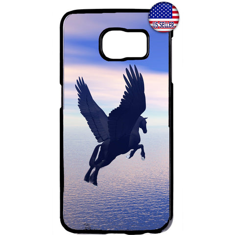 Flying Pegasus Horse Rubber Case Cover For Samsung Galaxy